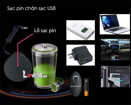 Máy rung mini đa tần số gắn tường điều khiển xa Prettylove HM02D cổng sạc bằng usb