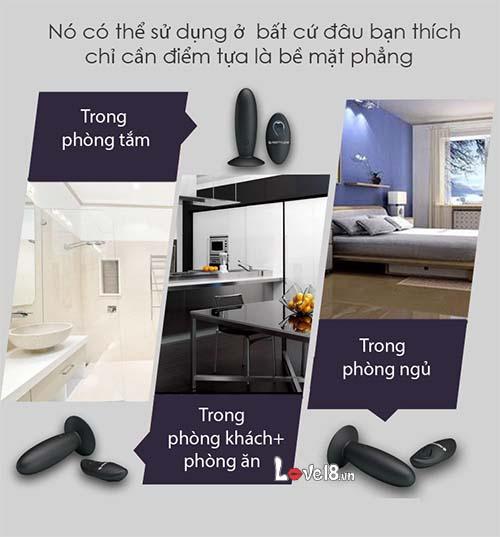 Máy rung mini đa tần số gắn tường điều khiển xa Prettylove HM02D dùng mọi nơi ở trong nhà