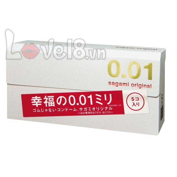 Bao Cao Su Mỏng Nhất Thế Giới Sagami 0.01 giá bao nhiêu?