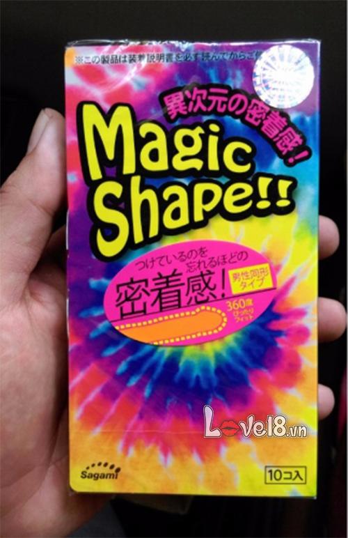 Bao Cao Su Sagami Magic Shape Gân Sọc Hộp 10 giá rẻ