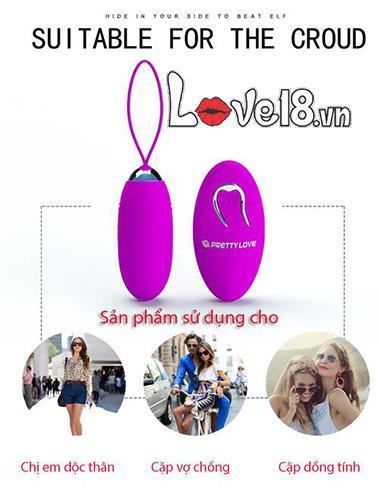 Trứng rung không dây sạc pin cao cấp Prettylove Jenny EG30B cặp đôi