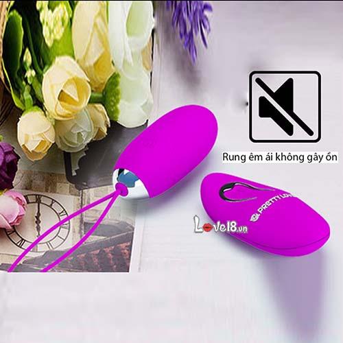 Trứng rung không dây sạc pin cao cấp Prettylove Jenny EG30B không ồn