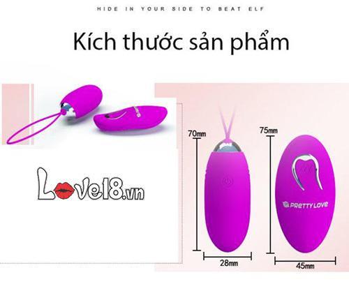 Trứng rung không dây sạc pin cao cấp Prettylove Jenny EG30B kích thước