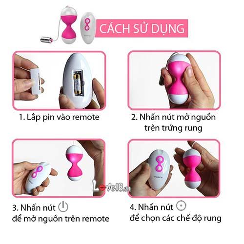 Trứng rung mát xa điểm G Miu Miu DC54 cách sử dụng
