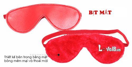 Bộ Bạo Dâm 7 Món Đỏ QT07 bịt mắt