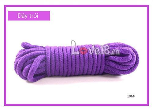 Bộ đồ chơi bạo dâm 8 món màu tím QT05 dây trói