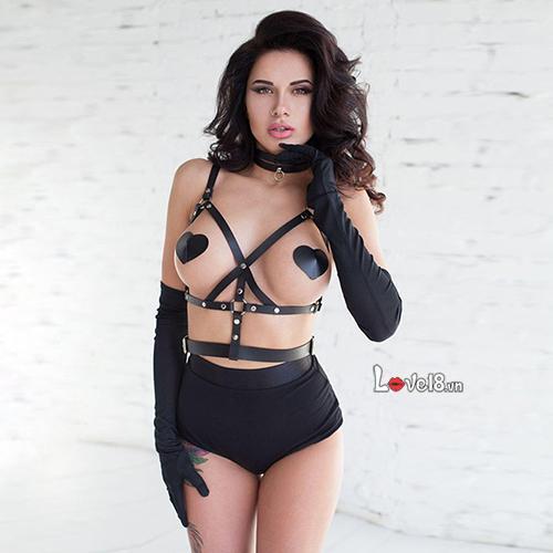 Dây đeo ngực và thắt lưng da bạo dâm NY66 gái bao nhiêu tại hà nội