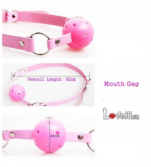 Đồ chơi bạo dâm 7 món màu hồng QT06 khóa miệng