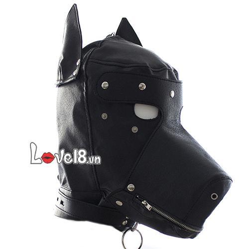 Mặt nạ bạo dâm hình đầu chó Sói BZ10A tăng hồi hộp
