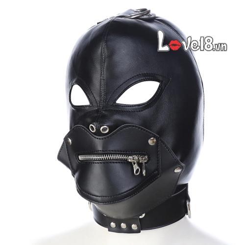 Mặt nạ trùm đầu bạo dâm hình quỹ có khóa miệng BZ10C giá rẻ
