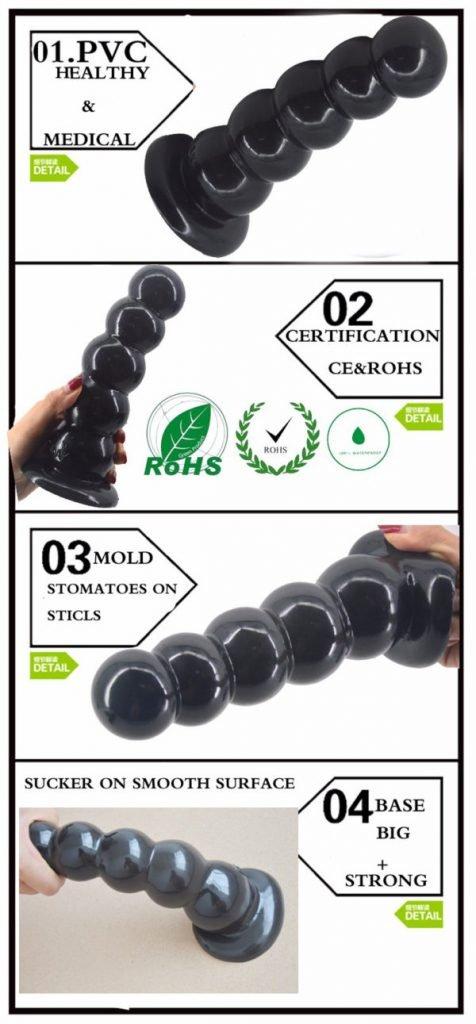 Dụng cụ kích thích hậu môn hình chuỗi hạt HM07D chất liệu an toàn cho người sử dụng