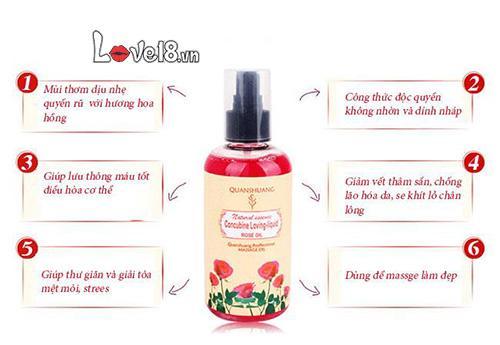 Dầu massage cơ thể hương hoa tự nhiên quyến rũ G12A hoa hồng