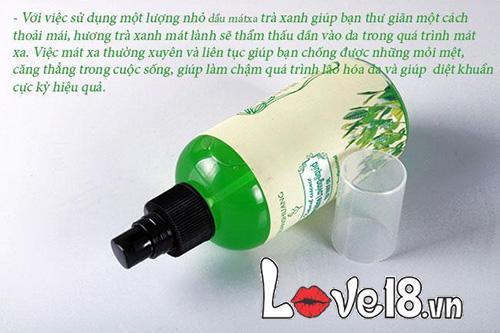 Dầu massage cơ thể hương hoa tự nhiên quyến rũ G12A trà xanh