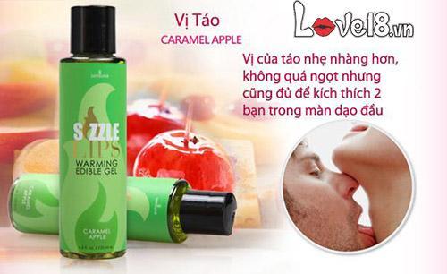 Dầu massage làm nóng cơ thể nếm được Sensuva Sizzle Lips G12B chính hãng