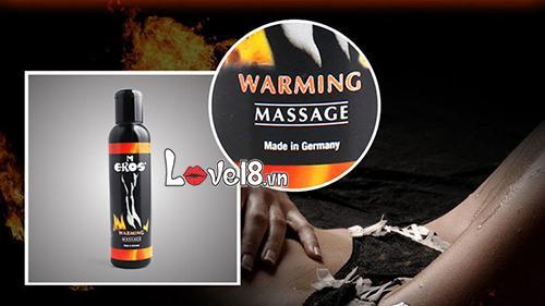 Dầu massage toàn thân Eros Warming Đức G12D tăng hưng phấn