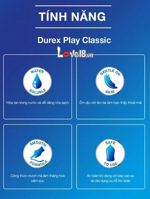 Gel bôi trơn Durex Play Classic 100ml G19B nhiều tính năng nổi trội