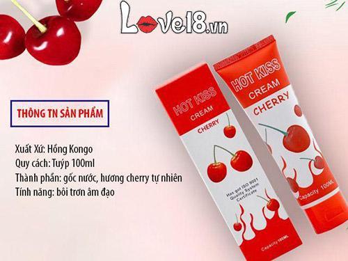 Gel bôi trơn Hot Kiss Cream Cherry G01B tại Hà Nội