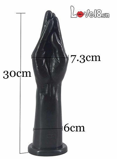 Kích thước của dương vật giả silicon hình cánh tay Faak HM08K siêu to khủng